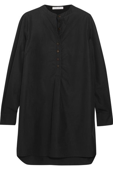 Barbara Casasola - Cotton-poplin Tunic - Black - IT