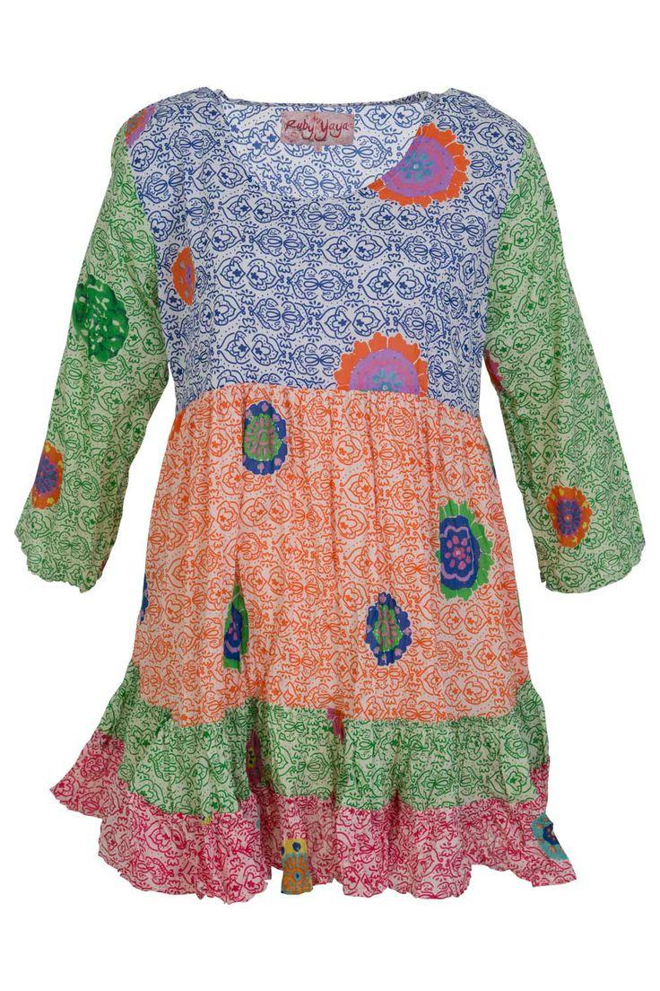 Ruby Yaya Fiesta Batik Medallion Dress - Womens Short dresses at Birdsnest Women's Clothing