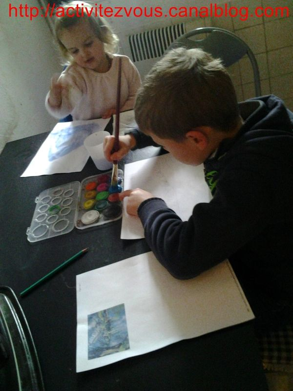 BRICOLAGE: peinture lac d'annecy facon C�zanne