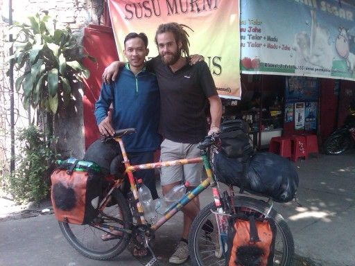 with pedar he is long distance cyclist from germany