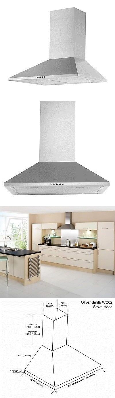 Range Hoods 71253: Oliver Smith Cooker Stove Hood Stainless Steel Pyramid 36 Inch Wall Mount Leds -> BUY IT NOW ONLY: $109.99 on eBay!