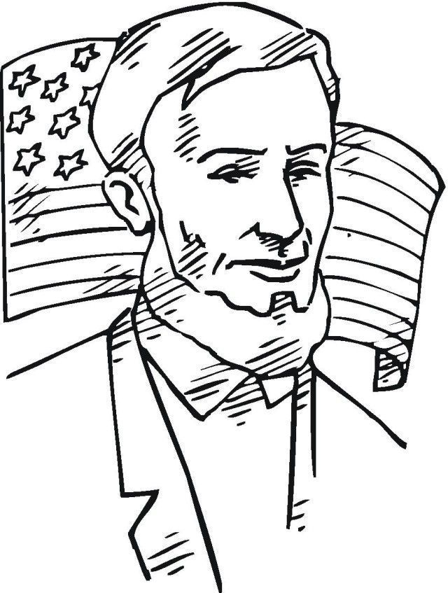 Free Abraham Lincoln Coloring Pages Halaman Mewarnai