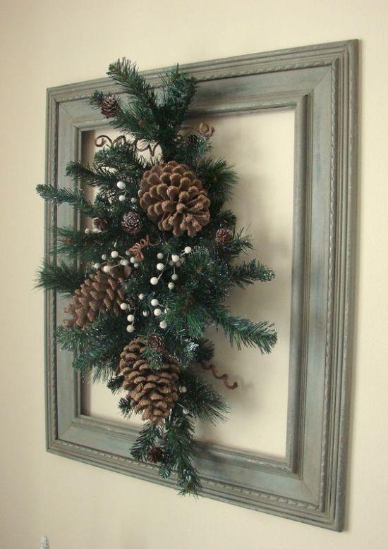22 mejores imágenes en adornos navideños con marcos reciclados en ...