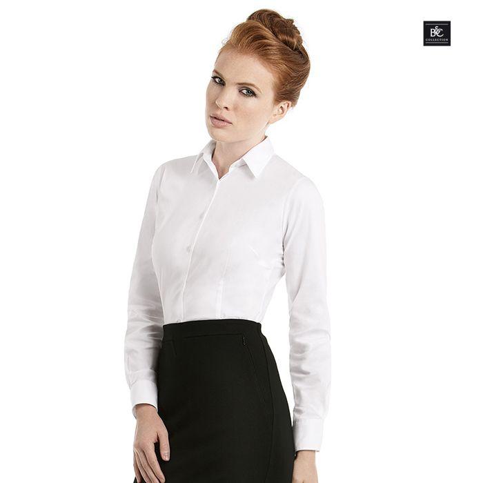 awesome Skjorta B&C Black Tie Poplin W