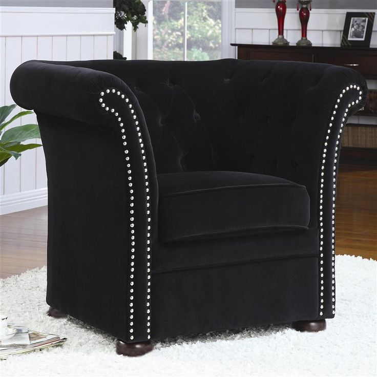 Coaster 902032 High Back Chair With Round Wood Feet Black