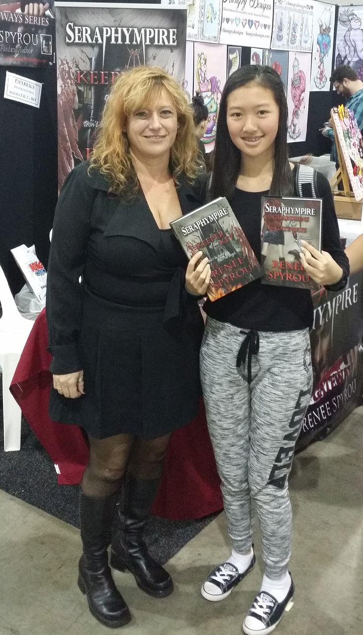 This lovely young lady bought hardback copies of my books. I hope She enjoys reading them.