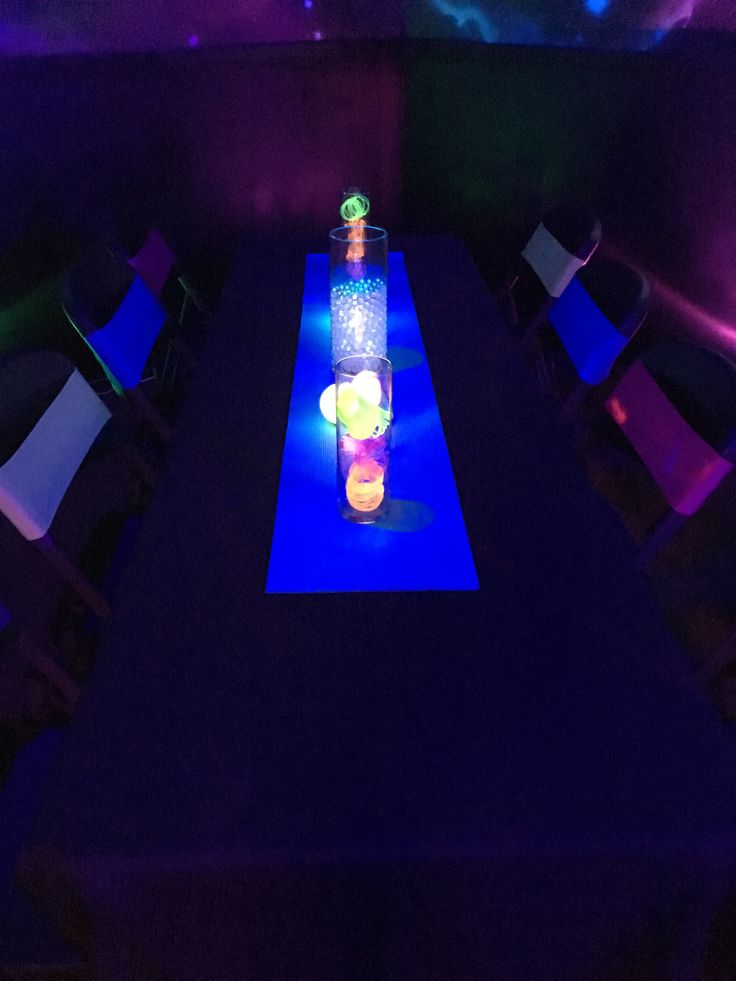 Neon Table Light: 7 Best Neon Lounge Themed Mitzvah Images On Pinterest
