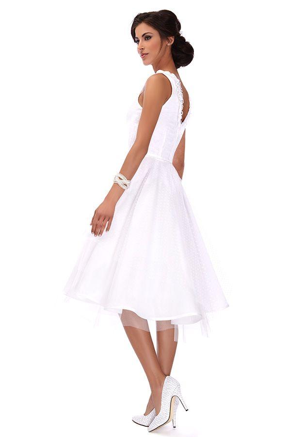 robe blanche longueur genoux la mode des robes de france. Black Bedroom Furniture Sets. Home Design Ideas