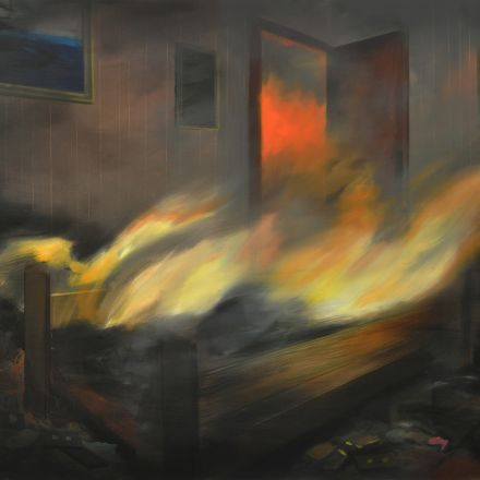 Brandi Twilley  Fire and Fall Painting, 2016