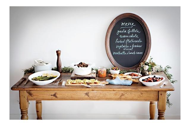 Beautifully set table, love the chalkboard menu