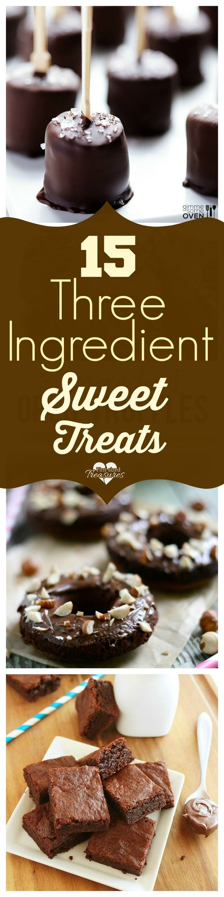 Love easy, sweet treats? These three ingredient treats will make you smile!