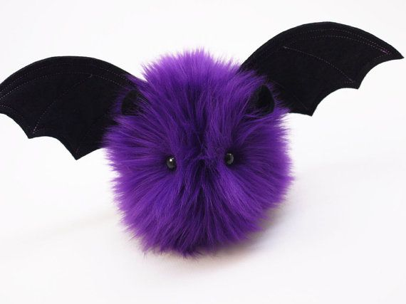 Stuffed Bat Stuffed Animal Cute Plush Toy Bat Kawaii by Fuzziggles