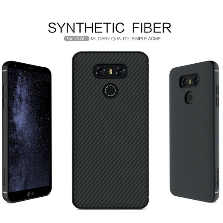 awesome sFor LG G6 Case Original NILLKIN High Quality Synthetic Fiber PP Plastic Hard Cover Case For LG G6 Support Magnetic Holder