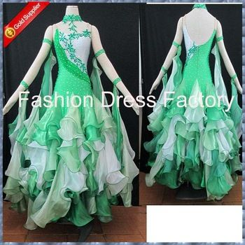 Green Tango Dresses for Women | 2013 Modern Waltz Tango Ballroom Dance Dress, Smooth Ballroom Dress ...