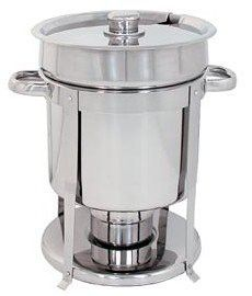 7 QT STAINLESS STEEL COMMERCIAL SOUP CHAFER / CHAFING DISH