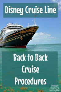 Sailing on back to back Disney cruises is a lot of fun. There is a special procedure you have to follow when you debark and embark the ship again. We sailed back to back on the Disney Dream to the Bahamas. Click here to see exactly what Disney will ask you to do.