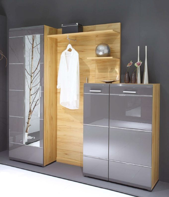 garderobe ornella mit schuhschrank anthrazit diele flur. Black Bedroom Furniture Sets. Home Design Ideas