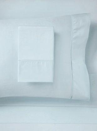 61% OFF Mason Street Textiles 400TC Organza Hemstitch Sheet Set (Powder Blue)