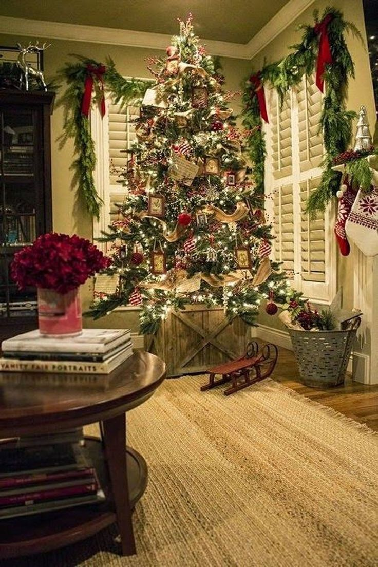 Cozy Christmas House Decoration 32 in 2020 Country