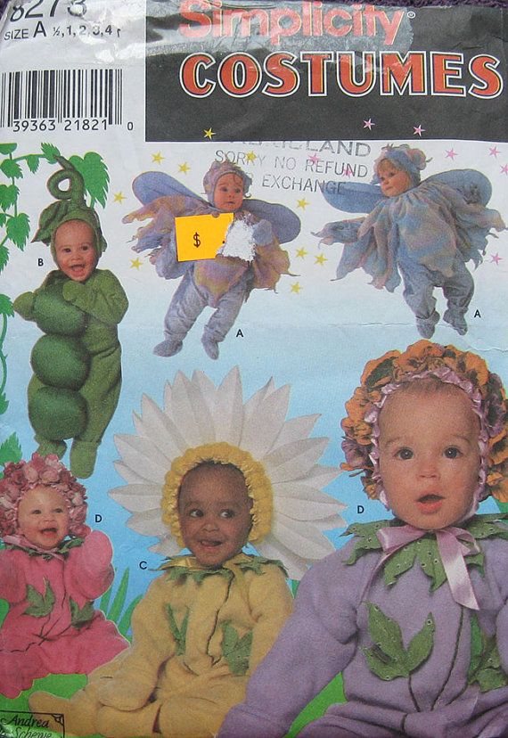 Simplicity Toddlers Halloween Costume Pattern by TheHowlingHag, $5.95