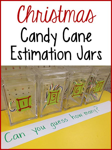 These Christmas Themed Candy Cane Estimation Jars Will Help Your Pre K Kids  Learn How
