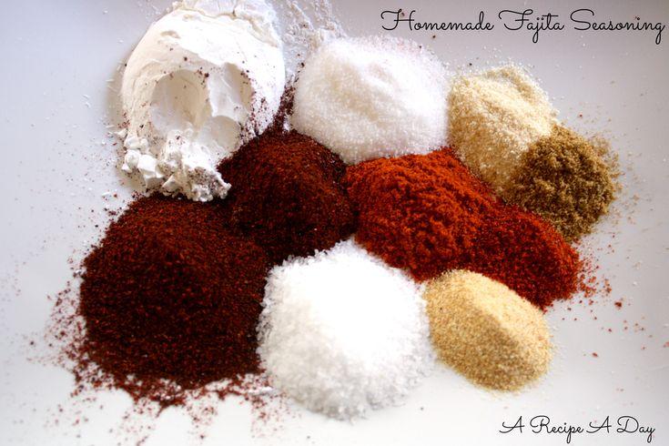 Never buy a packet of fajita seasoning again!   Homemade Fajita Seasoning ~ A Recipe A Day