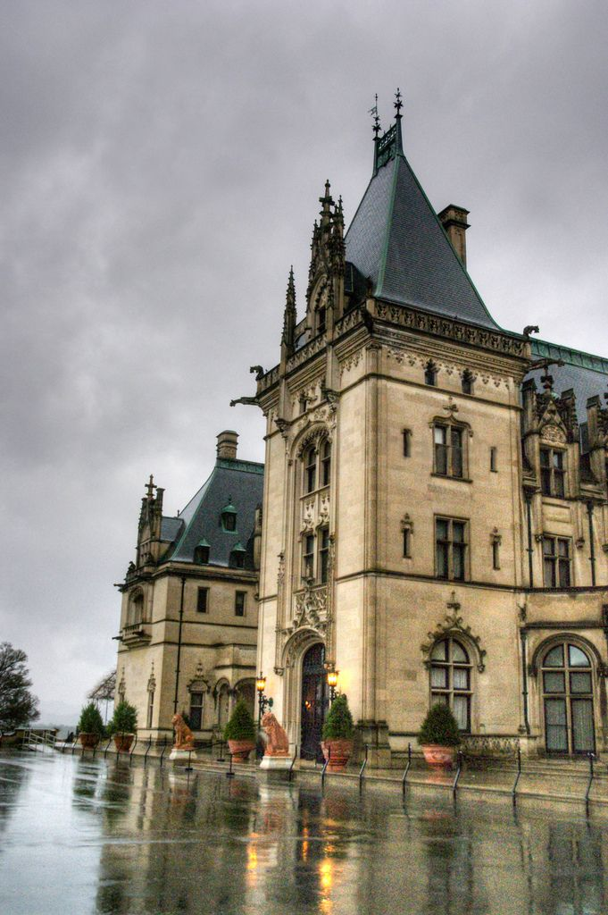 """59/365 ~ Biltmore House Under Severe Thunderstorm Warning"" by saturnsvu on Flickr - This is the Biltmore House that is located in Asheville, North Carolina.  This photo was taken on a day with severe thunderstorm warnings."
