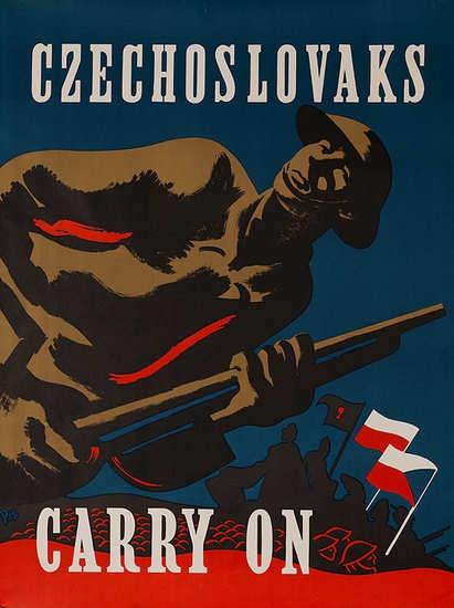 Czechs carry on against nazism.