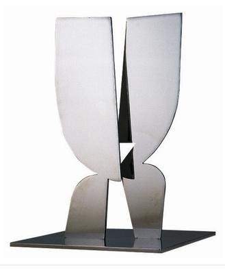 YIANNIS MORALIS, inox 'meeting' microsculpture