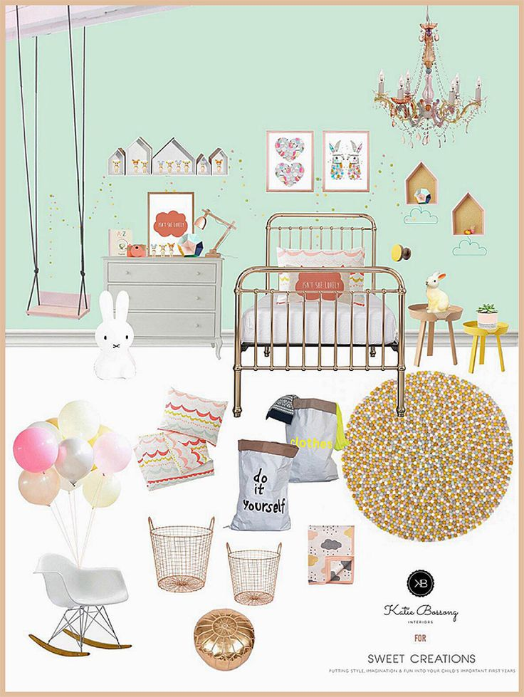 This stunning springtime style board designed by Katie Bossong of Bossong Interiors features some stylish children's bedrooms using a variety of the Sweet Creations range as well as a few of Katie's favourite picks.  These visual boards are the starting point for any good room design and we hope you take some inspiration from some of the ideas.