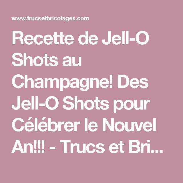 Recette de Jell-O Shots au Champagne! Des Jell-O Shots pour Célébrer le Nouvel An!!! - Trucs et Bricolages