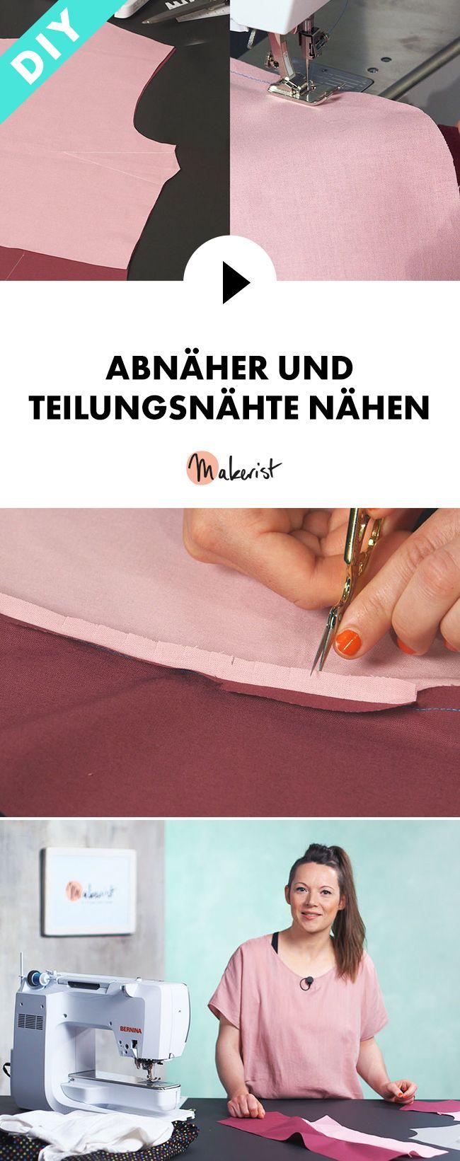 Abnäher und Teilungsnähte nähen lernen - Step by Step erklärt im Video-Kurs via Makerist.de
