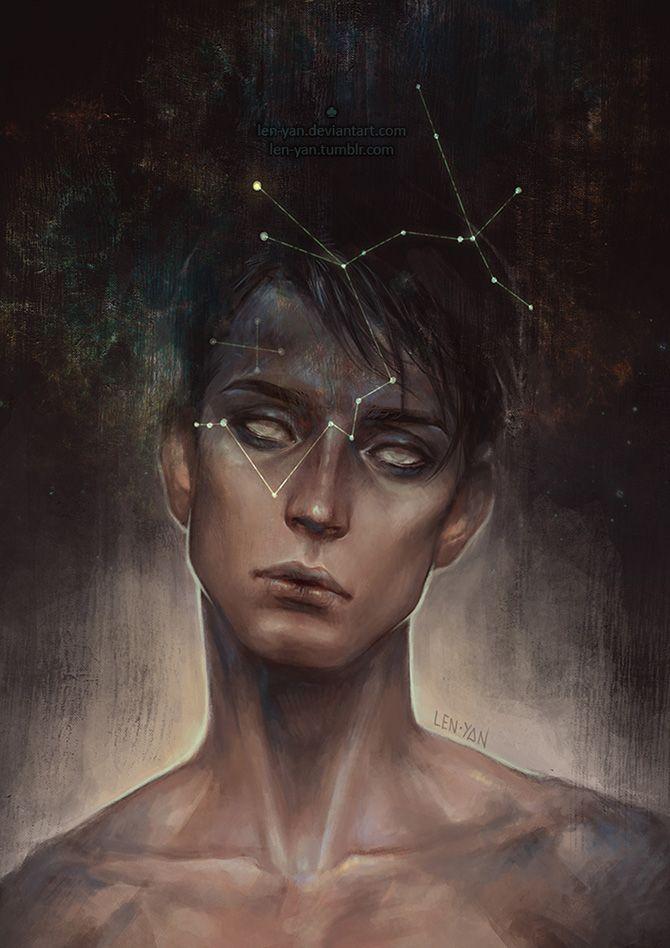 Magdalena Pagowska (len-yen) is a Polish illustrator who creates fantastic, otherworldly digital portraits.