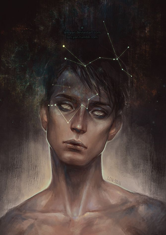 Magdalena Pagowska (len-yen) is a Polish illustrator who creates fantastic, otherworldly digital portraits.