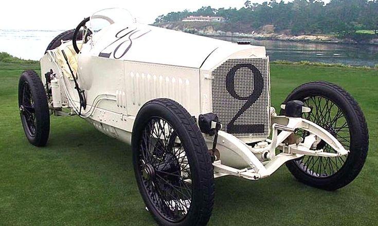 Mercedes Grand Prix, voiture de course de 1914  La Mercedes Grand Prix Rennwagen 18-100 PS, cette ancienne voiture de course fut produite en 1914, la Mercedes Grand Prix Rennwagen 18/100 PS de 1914 mesure 1.7 mètres de large, 4.1 mètres de long, et a un empattement de 2.85 mètres.