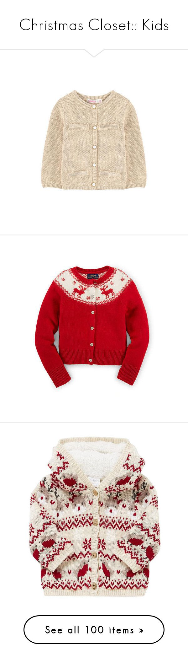 """""""Christmas Closet:: Kids"""" by sbhackney ❤ liked on Polyvore featuring tops, cardigans, christmas tops, cardigan top, christmas cardigan, pink cardigan, pink top, babies, pageant and baby accessories"""