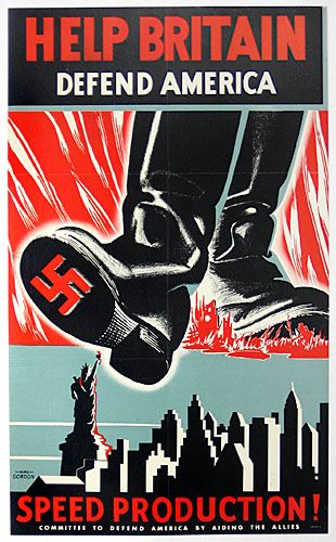 Committee to Defend America by Aiding the Allies: Help Britain Defend America #propaganda #worldwar2
