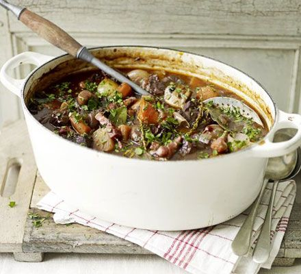 The secret to this super-rich beef casserole is to use all wine and no stock