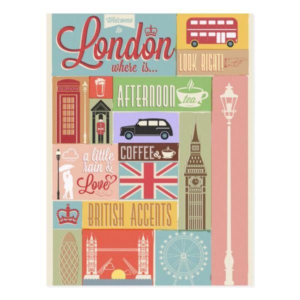 Welcome To London Postcard Zazzle Com