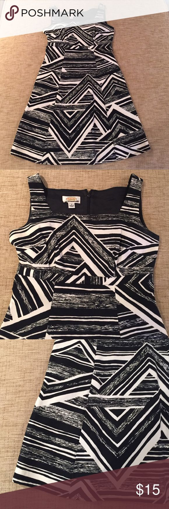 Aztec print dress Talbots petite Aztec print dress. In excellent condition, very dark navy (almost black) and white print. Talbots Dresses