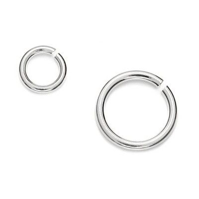 Jump rings 1,00 x 6,00mm - 3pcs  Dimensions: Wire gauge: 1,00mm External diameter: 6,00mm Weight ~ 0.39g ( 3 pieces ) Metal : sterling silver ( AG-925)  1 package = 3 pcs