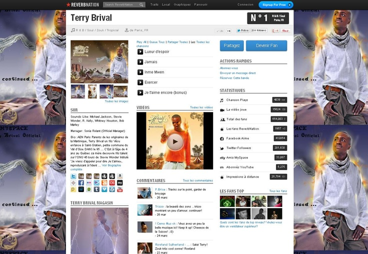 Terry Brival Music, Lyrics, Songs, Videos and all Fans of Terry Brival at Reverbnation.