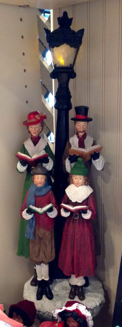 PERFECT for my sweet village at Christmas!!  Christmas Carolers/Cracker Barrel Gift Shop