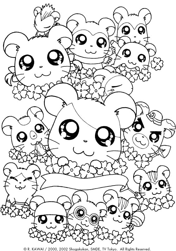 hamtaro 999 coloring pages