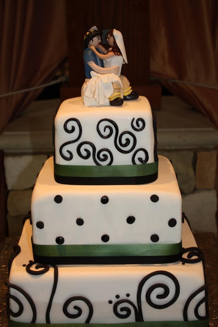 Black u0026 White Wedding cake Fondant Square