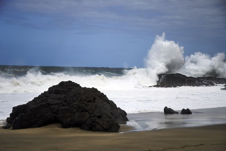 A storm surge that rolled in while we were in Kauai, HI