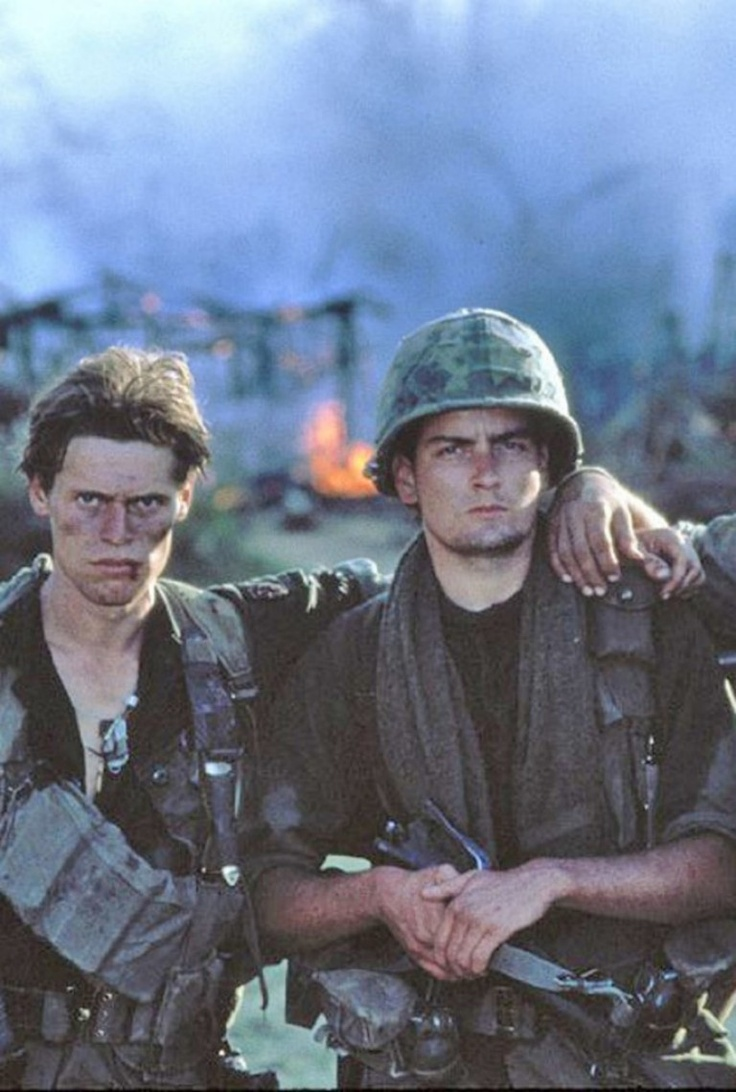 Willem Dafoe and Charlie Sheen, Platoon
