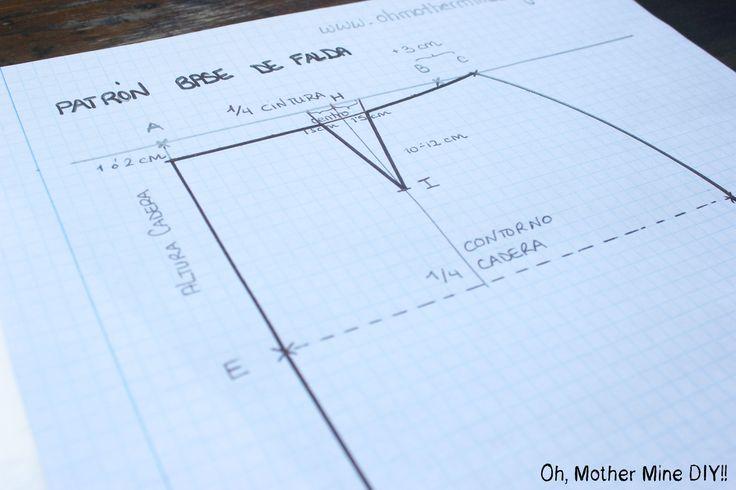 CURSO. Aprender a coser faldas parte 1: Cómo hacer un patrón base.