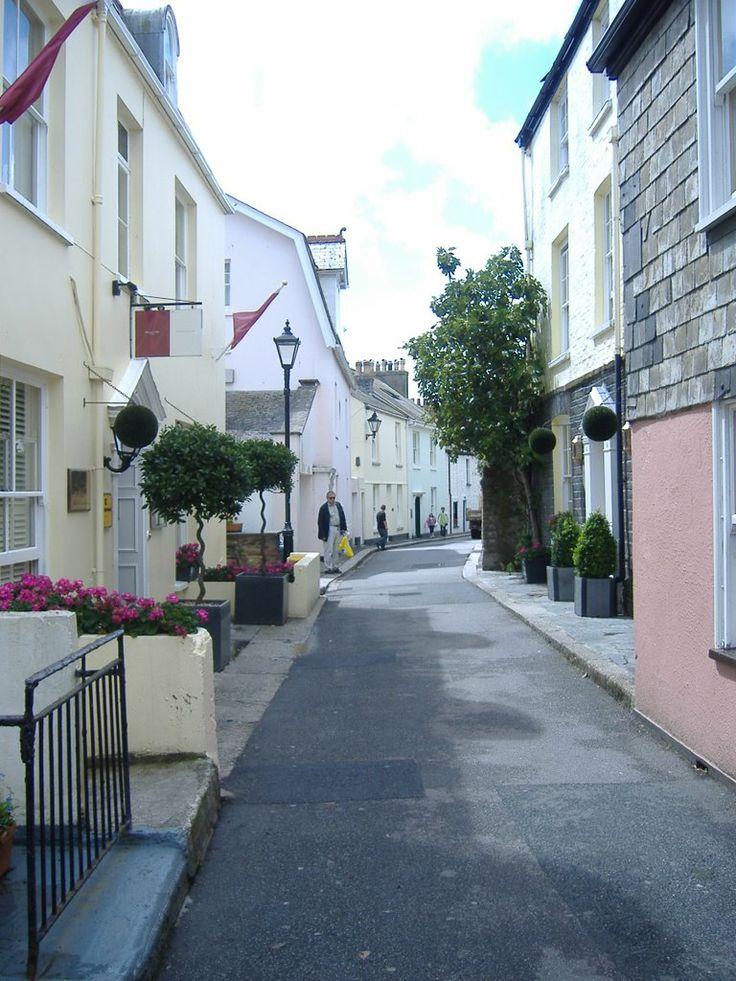 View along Esplanade Street, Fowey, Cornwall