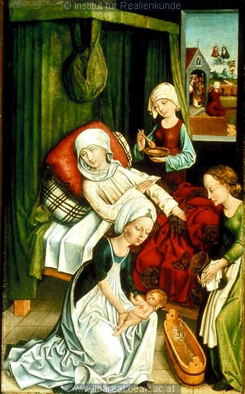 The Birth of St. Roche from the altarpiece of St. Lorenz in Nuremburg, c. 1475-1485